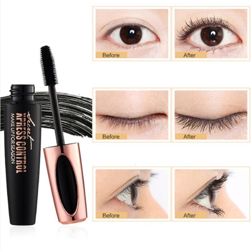 4D Silk Fiber Lash Mascara Waterproof Rimel 3d Mascara For Eyelash Extension Black Thick Lengthening Eye Lashes Korean Cosmetics