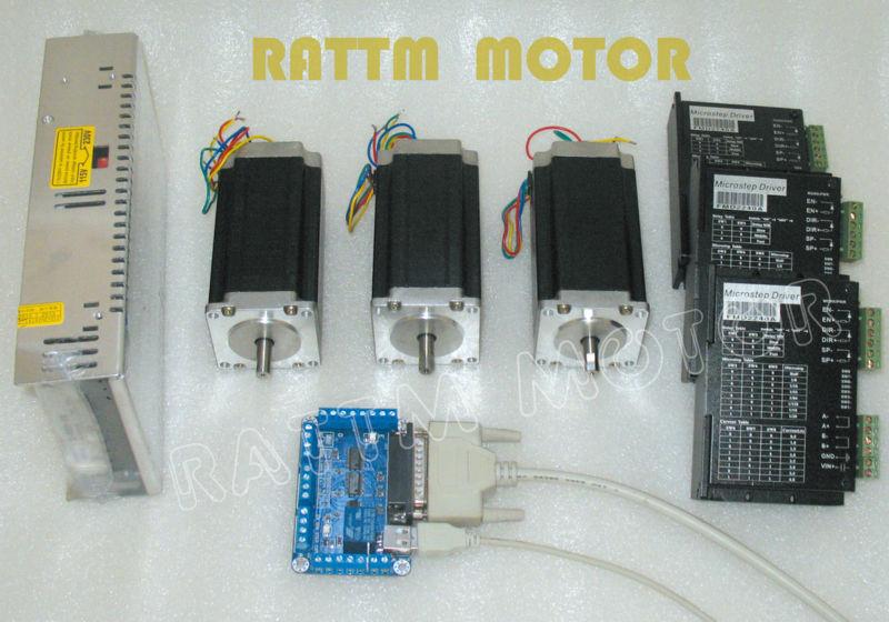 Buy 3axis cnc controller kit 3pcs nema23 for 3 axis nema 23 stepper motor driver controller cnc kit