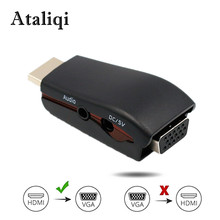 Ataliqi HDMI to VGA Adapter Converter Cable with Audio Cable Support HD 1080P for Xbox X360 PS3 PS4 PC Laptop TV Box Projector