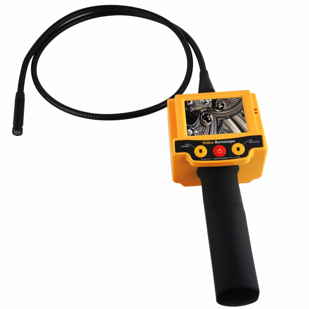 Industrial 2.4 inch TFT LCD Video Borescope Car Pipe Inspection 10mm Camera Endoscope 180 degree Rotation Snakescope 2 LED цены