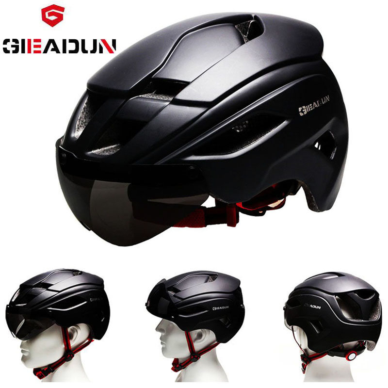 GIEADUN Bicycle Helmets Matte Black Men Women Bike Helmet Mountain Cycling Helmets