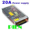 LED Strip 12V Power adapter 20A 240W switching power supply transformer led strip light Input 110V-240V Free shipping 1pcs