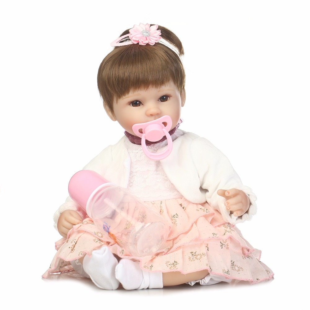 40cm Silicone reborn baby doll toys Lovely 16inch newborn princess girls babies reborn toy doll fashion birthday present gift 40cm full body silicone vinyl reborn baby doll 16inch newborn girls babies doll bath toy child birthday gift present child play