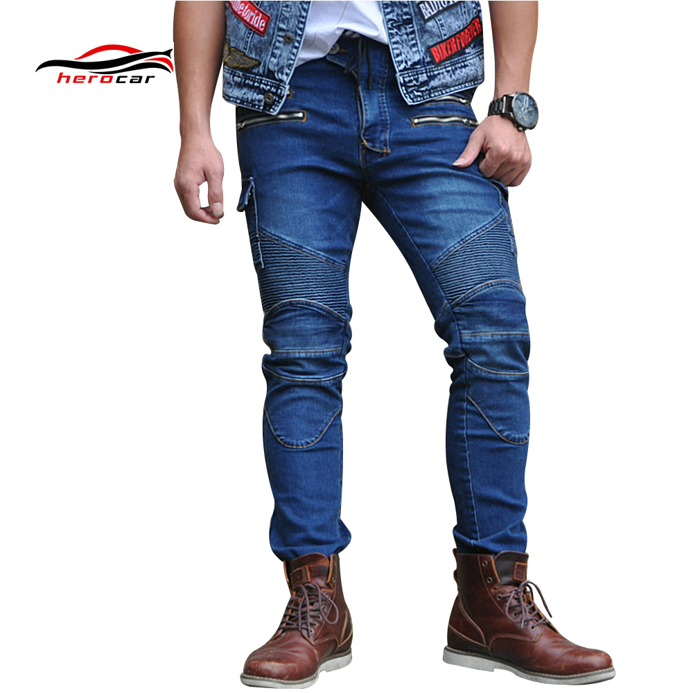 Motorcycle Pants Unisex Jeans Moto Protective Gear Riding Touring Motorbike Trousers Motocross Pants Pantalon Moto Pants amu motorcycle jeans camouflage denim biker motorbike racing pants motocross moto pants protective gear with protector