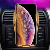 Wireless Car Charger Mount, Auto Clamping Fast Cell Phone Charger Holder Compatible For IPhone Xs/Xs Max/XR/X / 8/8 Plus Samsung