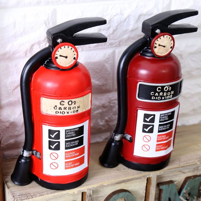 Home Decoration Accessories Fire Extinguisher Style Money Box Vintage Home  Decor Cofre De Moeda Bar Decoration