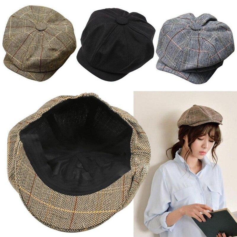 Men Women Newsboy Golf Driving Flat Gatsby Tweed Sun Hat Country Beret Baker Cap painter caps octagonal 2016 fashion new B1 белая рубашка с объемными рукавами и вырезом
