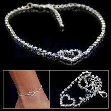 FrSexy Женщины Любят Подарок Сердца Rhinestone Ножной браслет Свадебные Украшения Браслет На Лодыжке