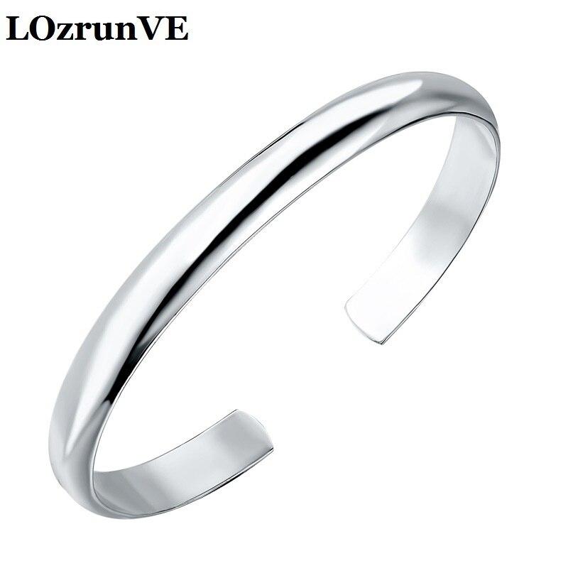 Здесь можно купить  Bracelets & Bangles Bangles Pulseiras Feminina Lozrunve 2018 999 Female Single Bracelet Open Jewelry  Bracelet  Ювелирные изделия и часы