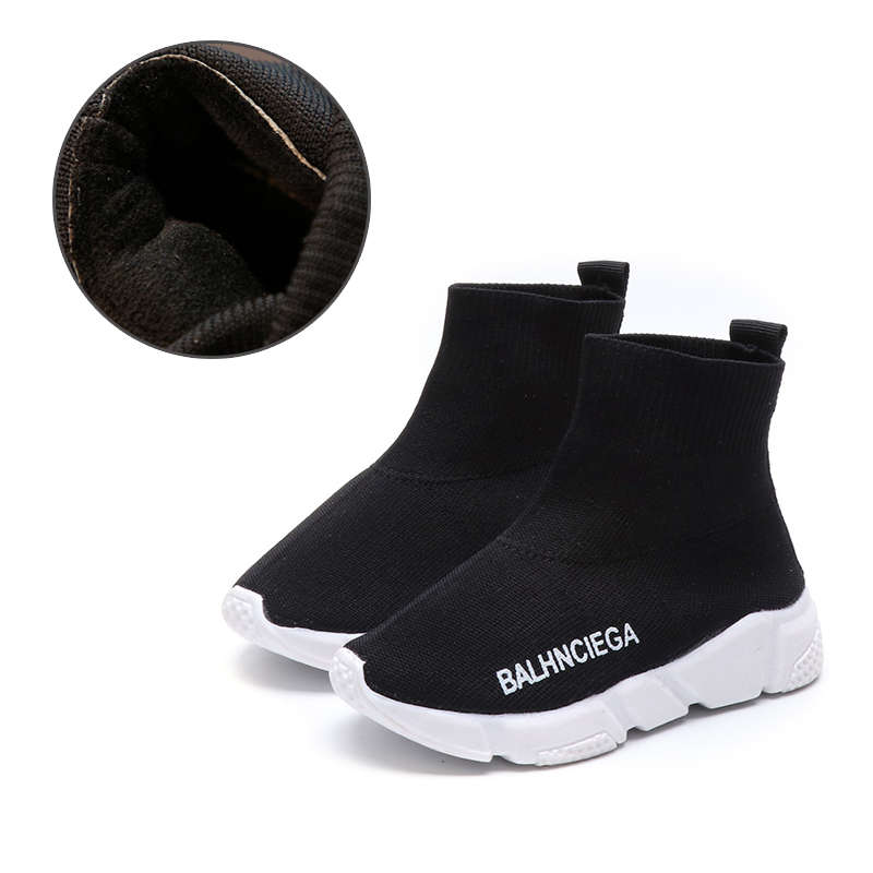 TUTUYU Baby Kids Fashion Sport Shoes Spring Children Sneakers Speed Trainer Shoes fur lined Socks Shoes Boy Girl Tennis Shoes