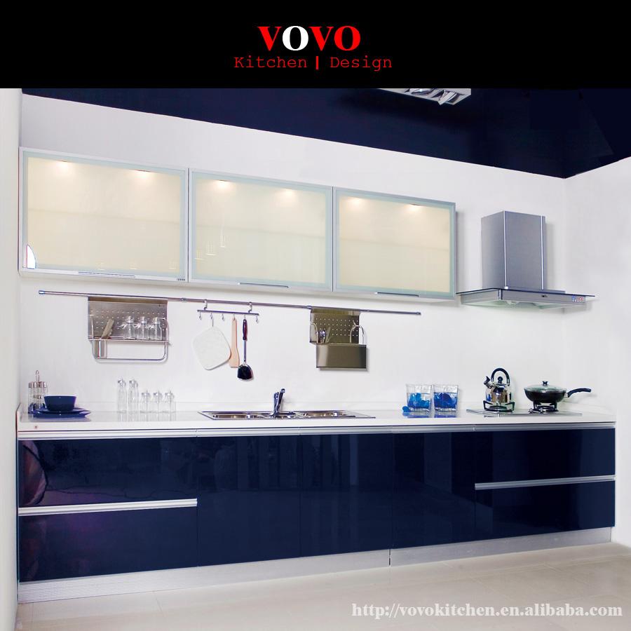 estilo americano moderno modular armrios de cozinha de alto brilho