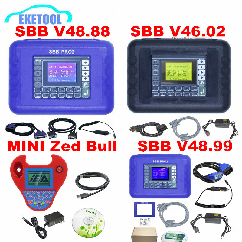 SBB V48.99 V48.88 V46.02 Key Programmer Add New Cars Upgrade SBB V33.02 Same Function AS CK100 MINI ZED BULL 2 Colors