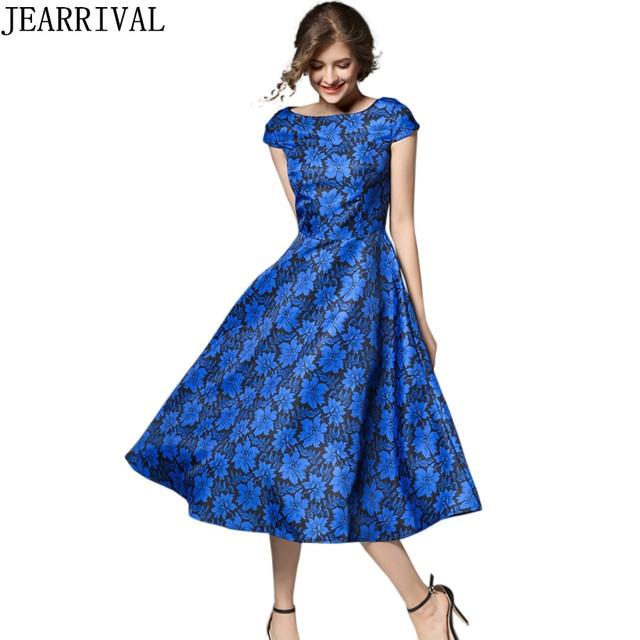 2017 neue Mode Elegante Vintage Kleid Sommer Stil Europäischen ...