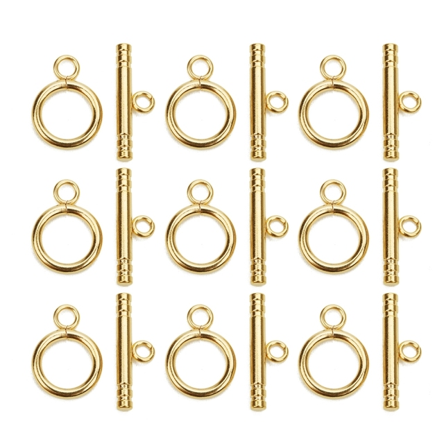 4set/lot 3 Style High Quality Stainless Steel OT Clasps Connectors for DIY Bracelet Necklace Jewelry Findings Making Accessories 5