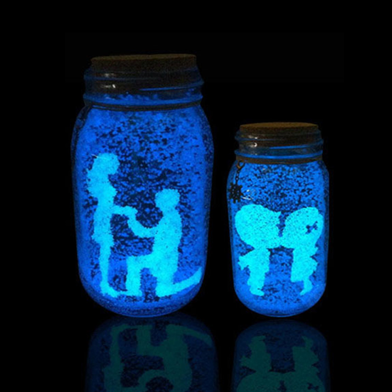 1 Bag Glow In The Dark Light Sand Luminous Toys For Children Particle Bright Sand Blue Fluorescent Toys For DIY Wishing Bottle