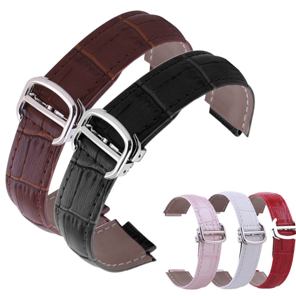 For Car Ballon Bleu Tank Series 9 11 12 14 18 20 mm Bamboo Pattern Genuine Leather Watches Strap Watchband Folding Buckle Clasp