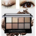 8 Colors Glitter Matte Eye Shadow Palettes With Brush Cosmetic Smoked Makeup Nude Eyeshadow Palette Set Earth Color