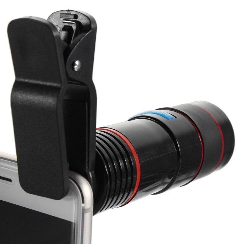 Optische 12-fach Zoom-objektiv Tele Telefon Kamera-objektiv Clip auf Beobachtung Camping Universal Für iPhone Android Handy
