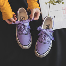 QWEDF Women Sneakers with Bow Female Canvas Shoes Riband Lac