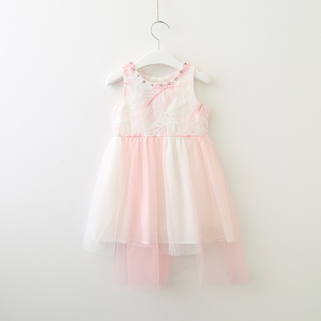 c1be3b87a1ab8 Aliexpress.com : Buy Girl Summer Dress Elegant Toddler Girls Princess Dress  Wholesale Lots Kids Summer Bulk Clothes Reinstone Feather Embroidery from  ...