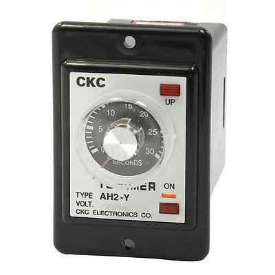 AH2-Y AC 220V 0-30s Seconds DPDT Power On Time Delay Relay Timer
