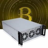 Riser Mining ETH/ETC/ZEC/XMR 4U Mine Mining Machine Chassis 6/8 Graphics Server Chassis Single Power Supply