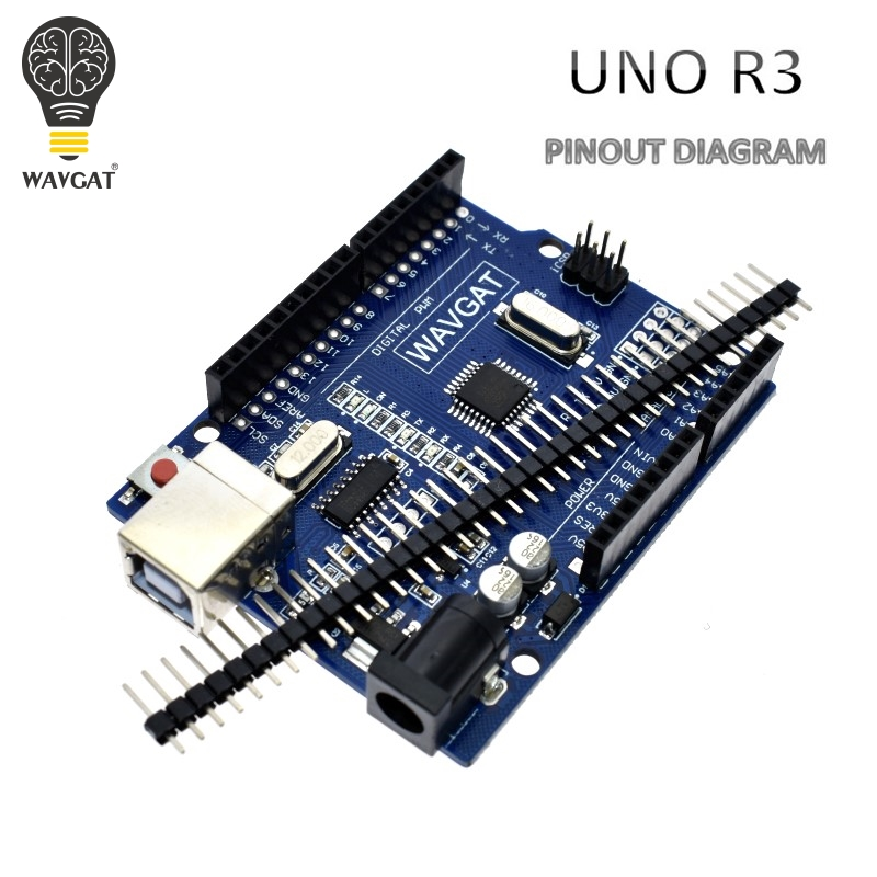 WAVGAT High Quality One Set UNO R3 (CH340G) MEGA328P For Arduino UNO R3 + USB CABLE ATMEGA328P-AU Development Board