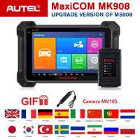 Autel MK908 OBD2 Scanner Diagnostic Tool ECU Coding Bi-Directional Android Automotive Code Reader Support J2534 Programmer