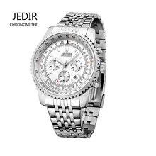 JEDIR Мода Спорт Хронограф Мужские Часы Мужские Часы Класса Люкс Лучший Бренд Высококачественной Нержавеющей Стали Кварцевые Часы