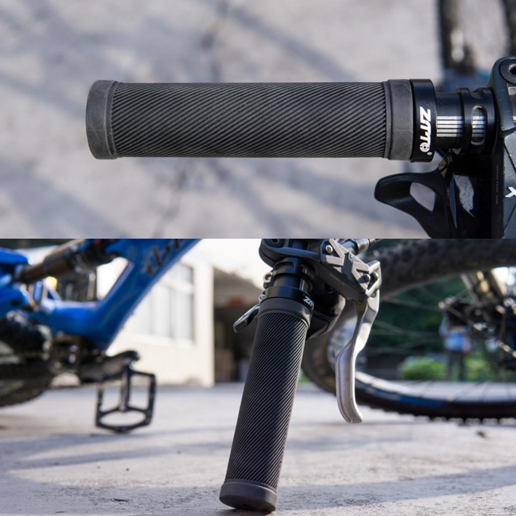Bike Bicycle Grips MTB BMX Soft Cycling Handlebar Double Locking On Grips