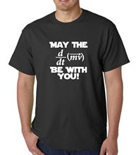 Printed T Shirts Fashion Men Crew Neck Short-Sleeve May The Force Be With You Science Maths Equation T Shirts