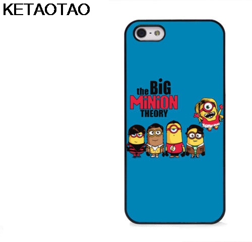 KETAOTAO Big Bang Theory Minion Funny Phone Cases for iPhone 4S 5C 5S 6S 7 8 Plus X for Samsung Case Soft TPU Rubber Silicone