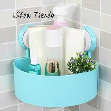 Ванная комната присоски Кухня угловой шкаф хранения Организатор Пластик душ полка двойной присоски Дизайн Ванная комната держатель для хранения