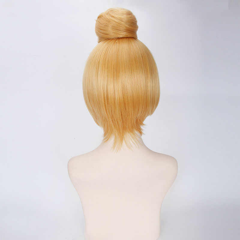 VEVEFHUANG 30 см короткие светлые Косплэй парик феи Динь-Динь полный волосы принцессы Tinker Bell Adult Размеры синтетические парики