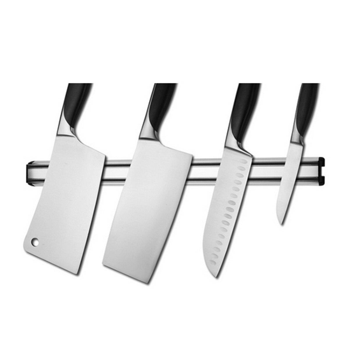 Hanging utensil rack for kitchen - Wall Mount Magnetic Knife Scissor Storage Holder Chef Rack Strip Utensil For Kitchen Knife Blocks Kitchen
