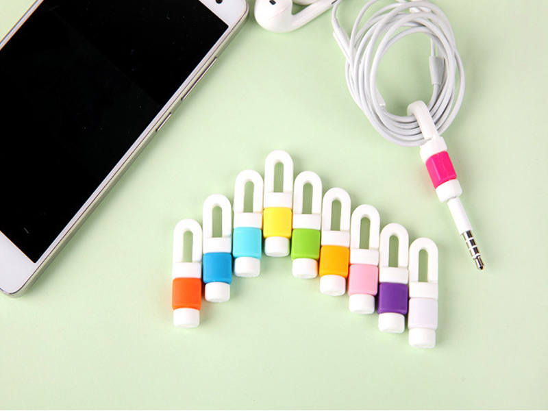 10-100pcs Mobile phone earphone cable Protective sleeve receives wire winding machine Charger data wire protection sleeve