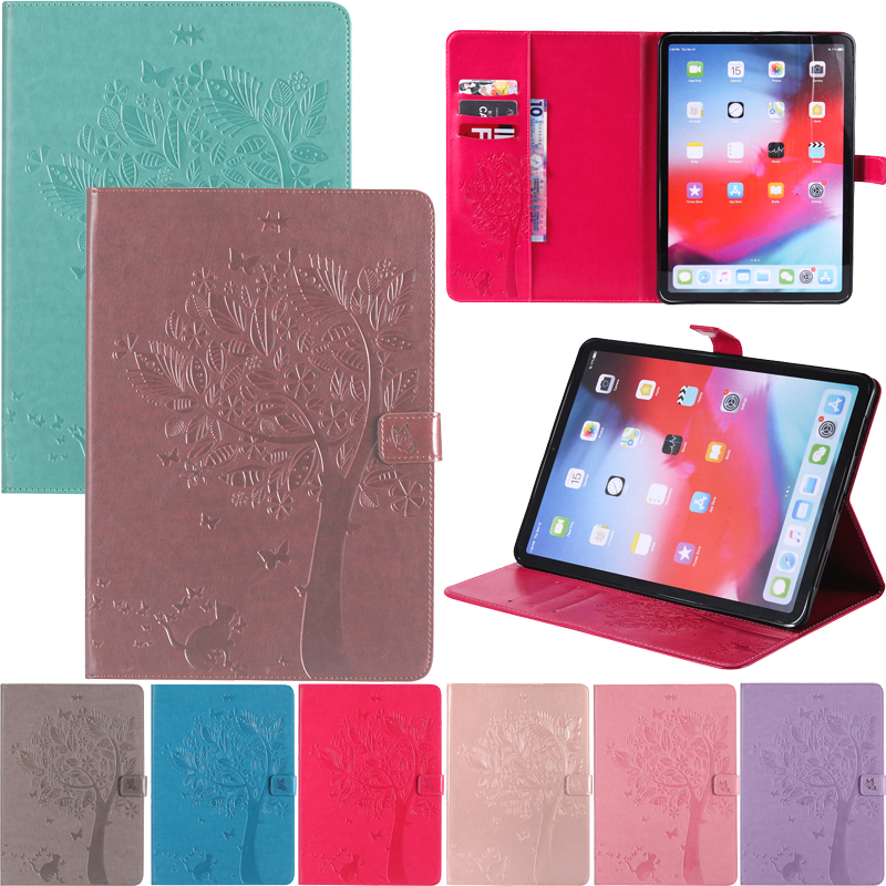 Cute Cat Tree Embossed Leather Wallet Magnetic Flip Tablet Case Cover Bags Skins Coque Funda For Amazon Kindle Fire HD 10 2017