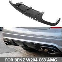 Углеродного волокна заднего бампера для губ Диффузор для Mercedes Benz W204 C63 AMG 2008 2009 2010 2011