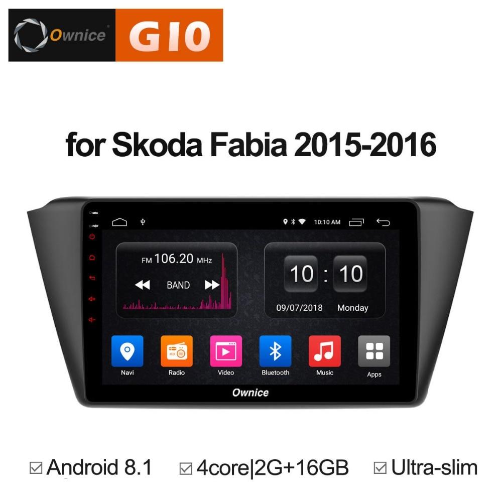 2 GB RAM + 16 GB ROM 9 pouces Android 8.1 Quad 4 Core lecteur DVD de voiture pour Skoda Fabia 2015 2016 GPS Navigation Radio stéréo TPM