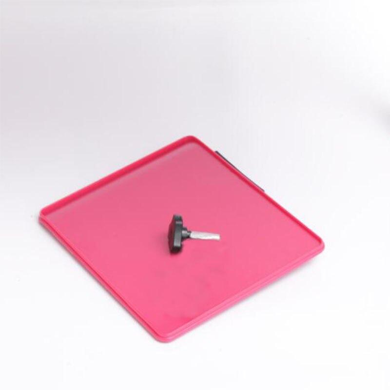 Алюминий складной стол для ноутбука Мышь доска черный/красный цвет Портативный части складной стол коврик для мыши с одним винтом D50