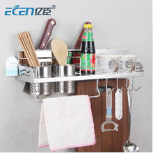 free shipping 2016 hot sale stainless kitchen holder steel storage rack multifunctional holder kitchen accessories 80CM 2CUP