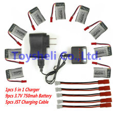 MJX X300c battery 3.7V 750mAh can choose come with 5 in 1 Charger mjx rc helicopter