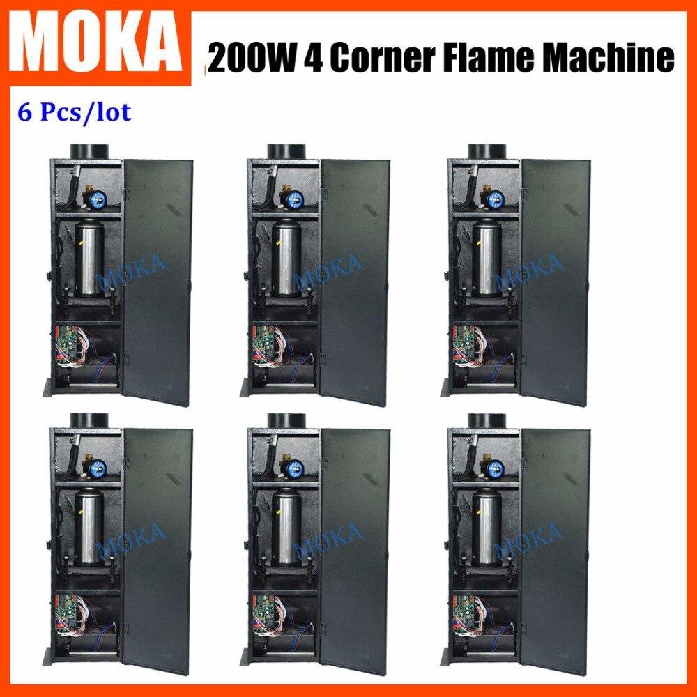 6 Pcs/lot  Factory Direct Sale stage dmx flame machine dj equipment fire fixture DMX Fire Jet Projector