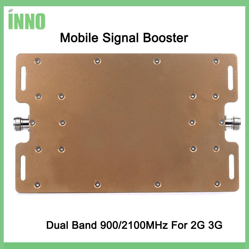 Complètement Futé! Double bande 900/2100 mhz vitesse 2g 3g signal mobile booster signal amplificateur répéteur de téléphone portable avec kit d'affichage LCD - 6