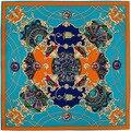 100 cm * 100 cm Sarga de Seda robó Euro Marca Francesa diseño cielo Hofgarten jardín del palacio Impresa de Las Mujeres de Seda Cuadrada bufandas hijab A209
