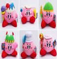 6pcs/lot Free Shipping 6 Styles Kirby Plush Toy Doll 13-20cm Collection Toys