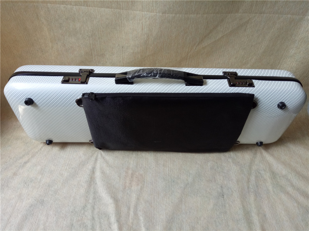 One Violin 4/4 Glass fiber case Waterproof Light Durable Dropshipping Wholesale Yellow white black blue red color white blue stitching color 4 4 glass fiber violin case
