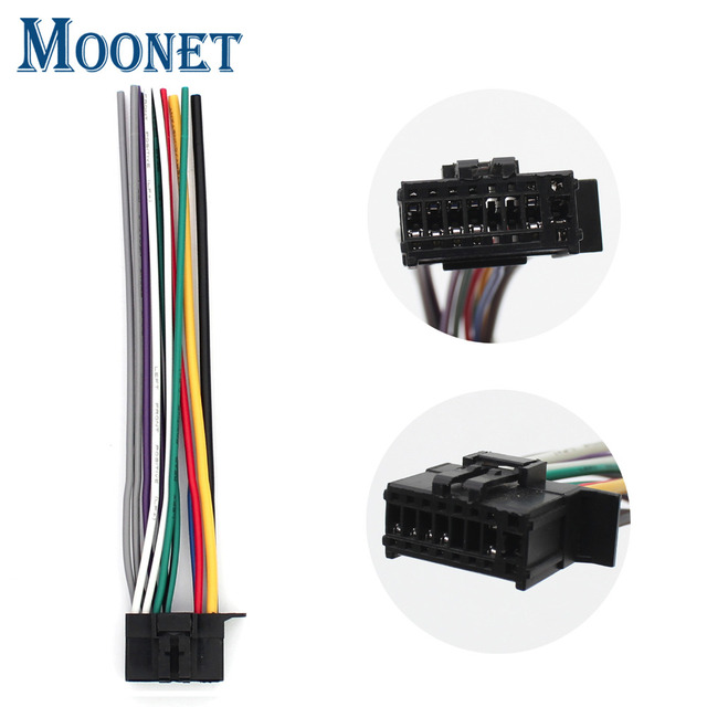 moonet new pioneer car stereo cd player radio cable wire harness plug 16  pin 2010 2011 2012 2013 2014 moedls qx124