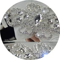 7 5 15 5cm Manual Welding Rhinestone Appliques Wedding Dresses Bag Shoes Clothing DIY Accessories Shiny
