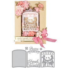 Ladies Friends Forever Drink Tea Shape Metal Cutting dies Scrapbooking Album Handcrafts Embossing DIY Paper card Making Stencils